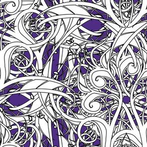 swirly graphic line art