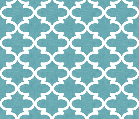 Teal Linen Farmhouse Coordinate fabric by gingerlique on Spoonflower - custom fabric