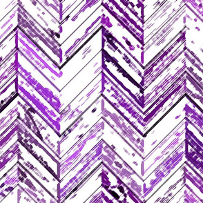 Whitewashed Wood Parquetry - Purple