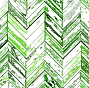 Whitewashed Wood Parquetry - Green