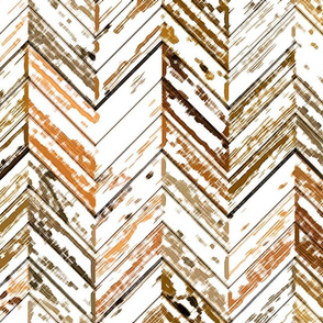 Whitewashed Wood Parquetry - Sepia