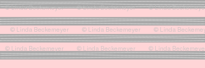 Stripes - Soft Gray + Pink - Amelia Collection