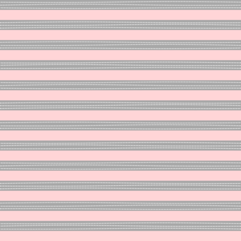 Stripes - Soft Gray + Pink - Amelia Collection fabric by gingerlous on Spoonflower - custom fabric
