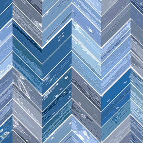 Wood Parquetry - Blue 2