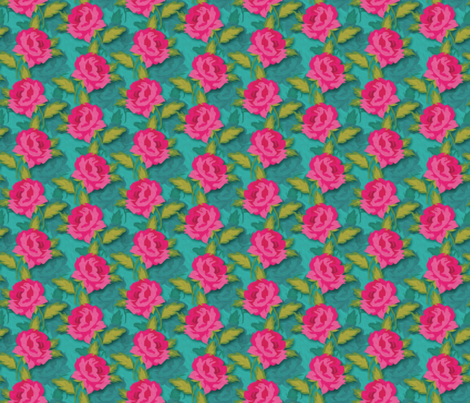 Roses Bohemiennes-03 fabric by leventetladiscorde on Spoonflower - custom fabric