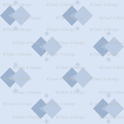 Dust In The Wind: Chambray Blue Geometric
