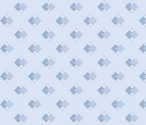 Dust In The Wind: Chambray Blue Geometric fabric by dept_6 on Spoonflower - custom fabric