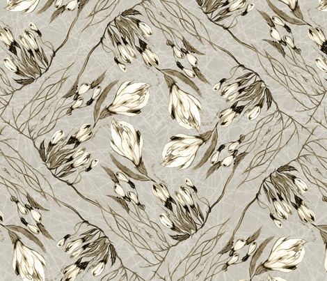 Tangled lillies fabric by snarets on Spoonflower - custom fabric