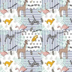 Baby Nursery Block Pattern Blue 3