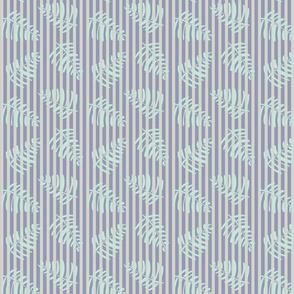 Baby Nursery stripe _ palms BlueGrey 2