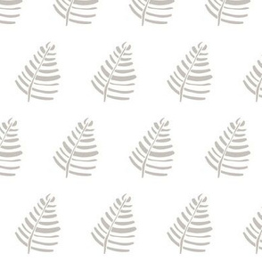 Baby Nursery grey palm 5
