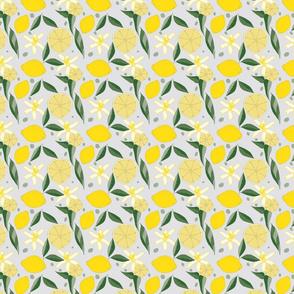 Lemonade Floral,  on stone gray