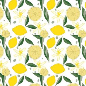 Lemonade Floral, Large on white