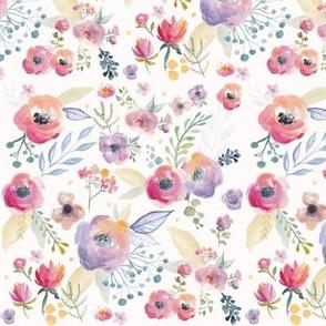 Bright Watercolour Floral Print