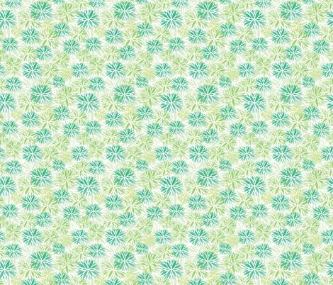 Stamped Floral Green fabric by lemonlovegood on Spoonflower - custom fabric