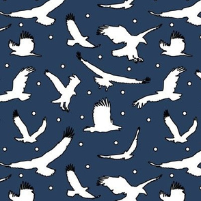 Eagle Dots on Navy // Large