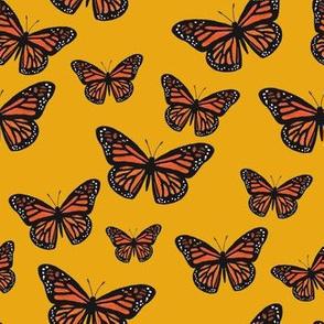 Monarch Butterflies Gold