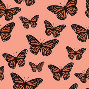 Monarch Butterflies Coral