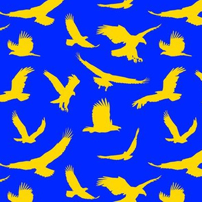 Gold Eagles on Blue // Large