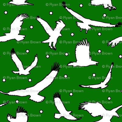 Eagle Dots on Green // Large