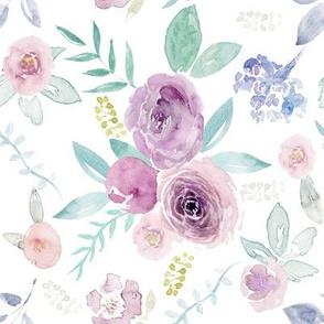 Spring Watercolour Florals MEDIUM Rotate 90