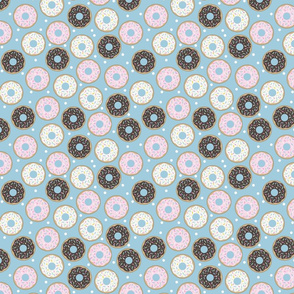 Donuts Pastel blue
