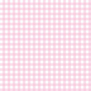Gingham pastel pink