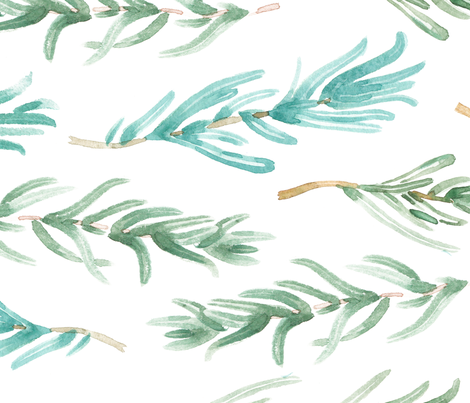 Watercolor Rosemary pattern seamless 13 fabric by oleg&katya on Spoonflower - custom fabric