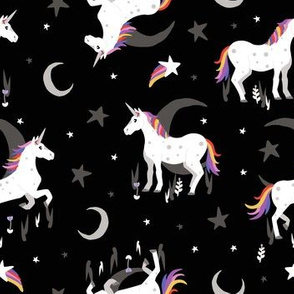 Moonlit Unicorn - Midnight black