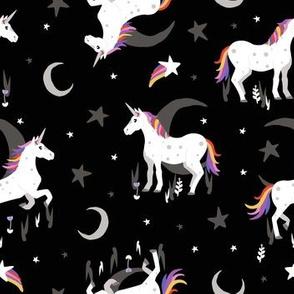 Moonlit Unicorn - Midnight black