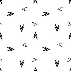 black and white arrows