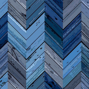 Wood Parquetry - Blue