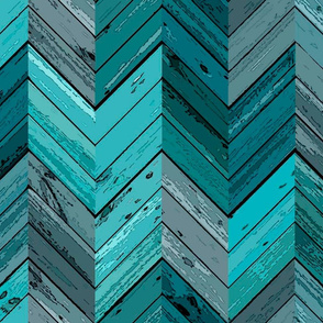 Wood Parquetry  - Cyan
