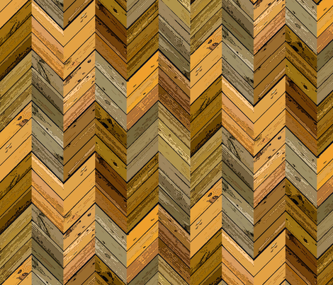 Wood Parquetry - Sepia fabric by engravogirl on Spoonflower - custom fabric