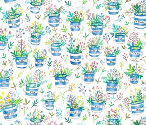 Enamel mug vases fabric by stamptout on Spoonflower - custom fabric