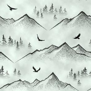 Eagle's Eye View // Blue-Grey Mist // Large