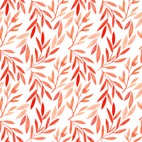 small watercolor autumn branches fabric by yashroom on Spoonflower - custom fabric
