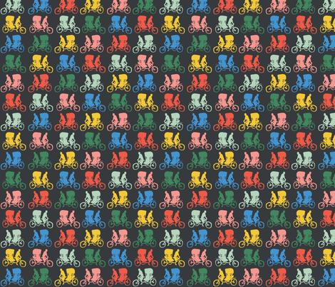 Ode to the Rickshaw Driver Night fabric by studiojelien on Spoonflower - custom fabric