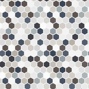 Neutral Hexagon Hexie Home Decor Slate Blue Taupe Brown Gray grey  navy Blue _ Miss Chiff Designs