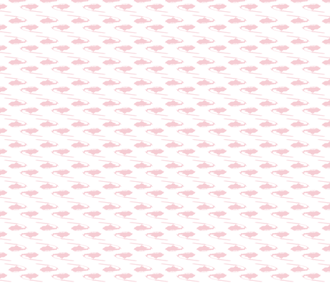 Cobra Whiskey helicopters in offset pattern pink with white background-ch fabric by thread_sa on Spoonflower - custom fabric
