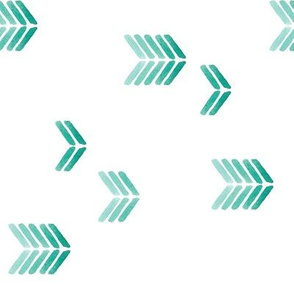 watercolor minimalist arrows green