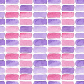 watercolor tiles in pink and purple colors