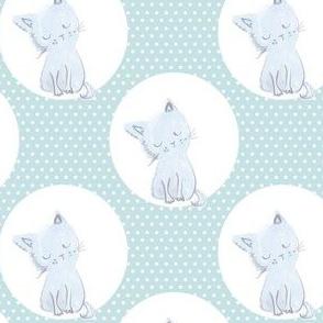 "4"" Boy Kitty White Polka Dots"