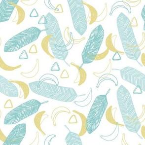 summer banana tropical pattern