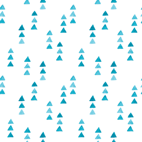 Watercolor minimalist cute design. triangle illustration fabric by yashroom on Spoonflower - custom fabric