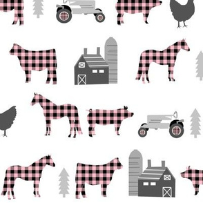 farm fabric nursery decor tractors animals farming plaid