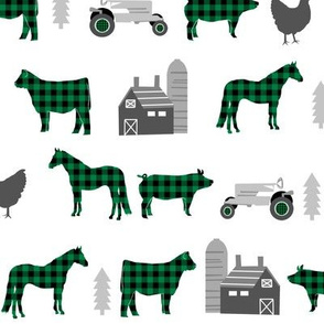 farm fabric nursery decor tractors animals farming green