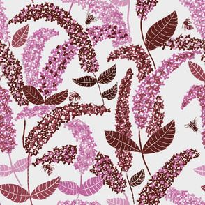 Bee Buddleia // pink floral