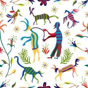 Otomi man with critters