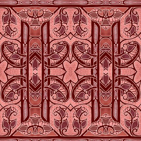 Barn Red Branches fabric by edsel2084 on Spoonflower - custom fabric